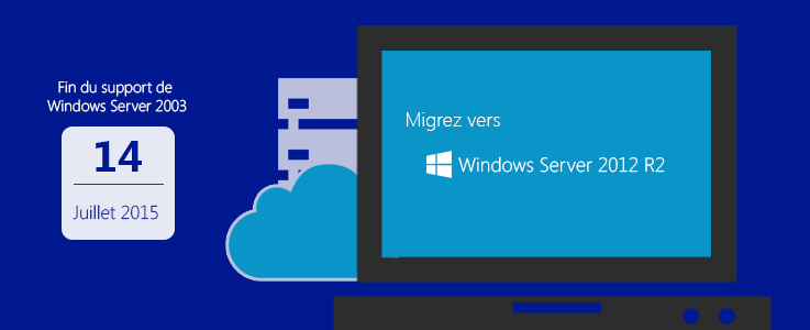 Fin de support pour Windows Server 2003 passez à Windows Server 2012 R2