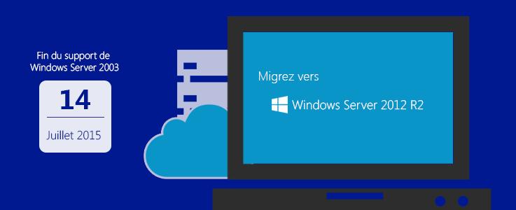Fin de support pour Windows Server 2003 passez à Windows Server 2012 R2