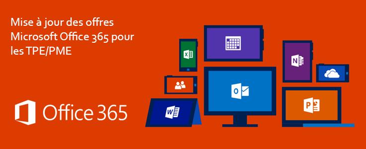 Evolution de l'offre Microsoft Office 365 pour les PME et TPE