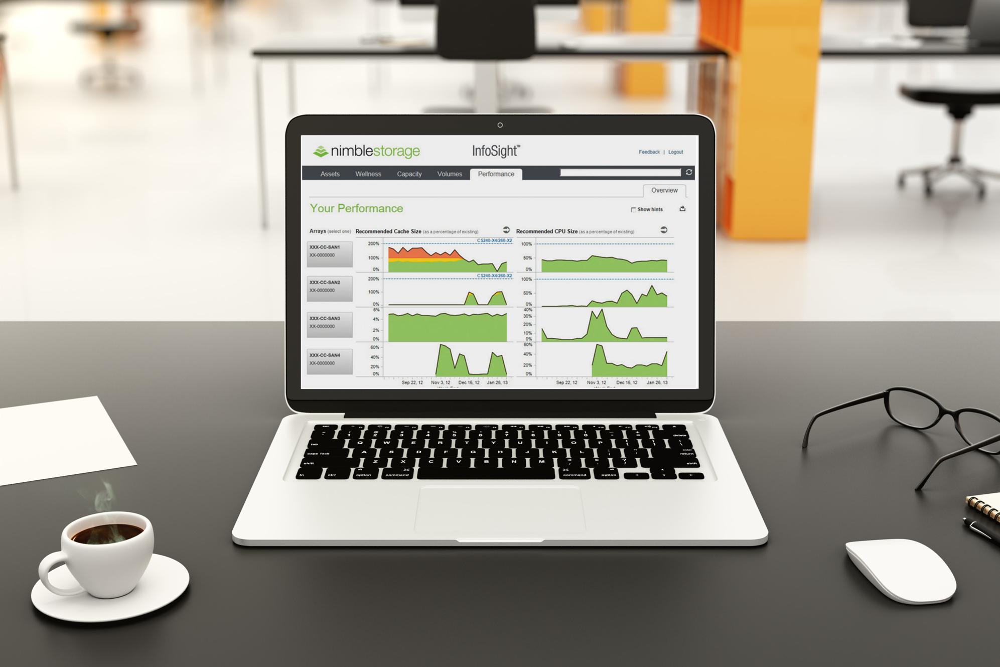 Nimble Storage Infosight – Analyse prédictive et haute performance